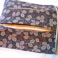 Chocolate brown diaper bag - reader sleeve - brown fall leaf - neutral stripes - pleated bible case - over sized wallet - wipe case - clutch