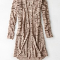 AEO Women's Open Knit Festival Cardigan
