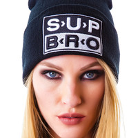 UNIF Sup Bro Beanie Black One