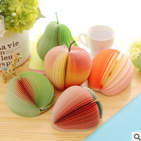 Novelty Various Fruit Design Memo Pad Sticky Notes Memo Notebook Pad Promotional Gift Stationery