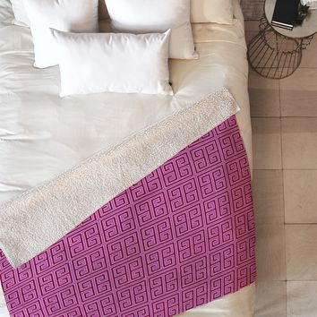 Caroline Okun Violaceous Fleece Throw Blanket
