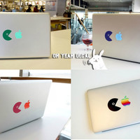 Eating apples macbook decal/Decal for Macbook Pro, Air or Ipad/Stickers/Macbook Decals/Apple Decal for Macbook Pro / Macbook Air/laptop13125