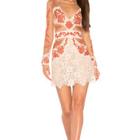 For Love & Lemons Matador Tulle Dress in Melon | REVOLVE