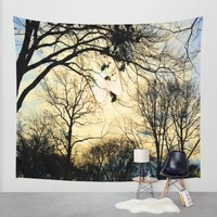 Sunset in Battery Park NYC Wall Tapestry by Haroulita!!   Society6