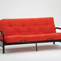 Regan Black Single Arm Metal Futon