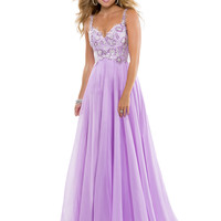 Sweetheart With Shoulder Straps Lace Bodice Formal Prom Dress Flirt P2816