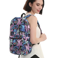 Loungefly Disney Lilo & Stitch Angel & Scrump Toss Print Backpack