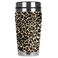 Amazon.com: Mugzie® brand 16-Ounce Travel Mug with Insulated Wetsuit Cover - Small Leopard Spots: Kitchen & Dining