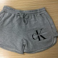 """Calvin Klein"" Women Casual Strappy Shorts Grey I"