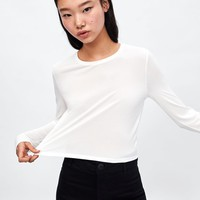 CROPPED T - SHIRT-Long Sleeve-T-SHIRTS-WOMAN | ZARA United States