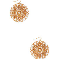 FOREVER 21 Regal Cutout Drop Earrings