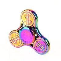NEW Money Patten Fidget Spinner Rainbow Aluminium Alloy Metal Hand Spinner ADD/ADHD Anti Stress EDC Focus Toy Spiner