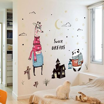 Castle Animal Wall Stickers Decal Girl Room