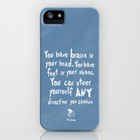 dr seuss you have brains in your head iPhone & iPod Case by studiomarshallarts