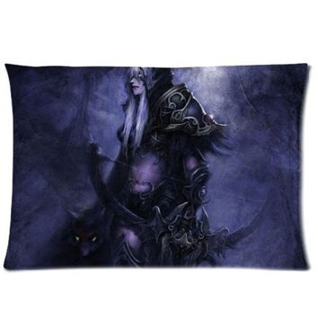 World of Warcraft Custom Zippered Pillow Cases 16x24 (Two sides)