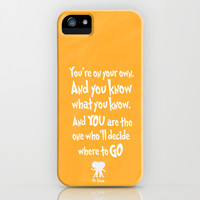 dr seuss: you're on your way iPhone & iPod Case by studiomarshallarts
