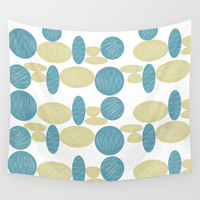Pebbles Wall Tapestry by Hedehede