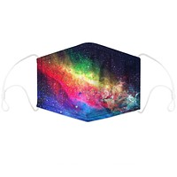 Digital printing dustproof filter chip for adult and child mask distribution colorful galaxy Starry sky