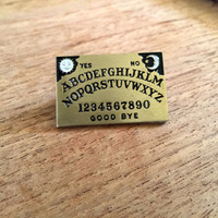 Witchy Ouija Board Metal Enamel Pin Badge