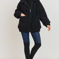 Winnie Teddy Jacket (Black)