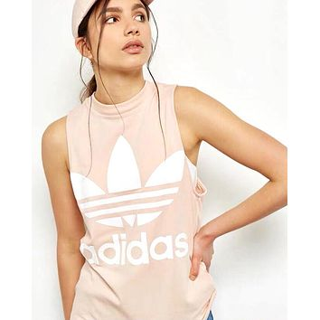 ADIDAS 2019 new women's casual sports vest Pink