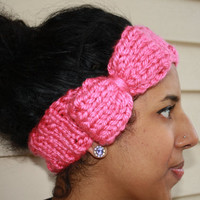Made To Order Knitted Bow Headband