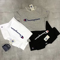 Champion Hot Letters Print T Shirt