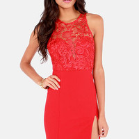 The Fox Red Lace Dress