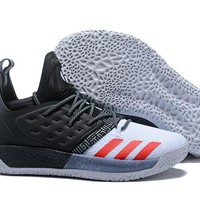 Adidas Harden Vol. 2 White/Black Basketball Shoes US7-11.5