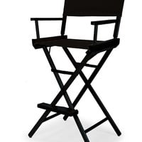 Black Heritage Director Chair - Bar Height - Black Cover