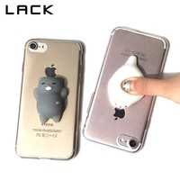 LACK Ultra Slim Clear Phone Case For iphone 5S Case Cartoon 3D Squishy Toys Cover Pressure Release Cases For iphone 7 6 6S Plus