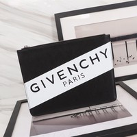 Kuyou Givenchy Paris Fashion Women Men Gb39618 Large Zipped Pouch In Leather Size 30*22.5cm