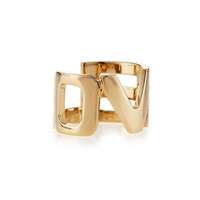 Brass Love Cutout Ring - Givenchy