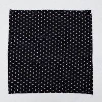 Indigo Dyed Dot Print Cotton Pocket Square