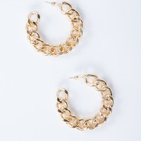 Mini Chain Hoop Earrings