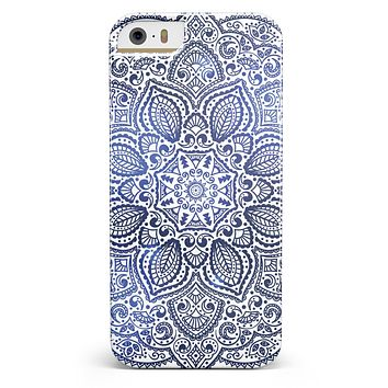 Dark Blue Indian Ornament iPhone 5/5s or SE INK-Fuzed Case