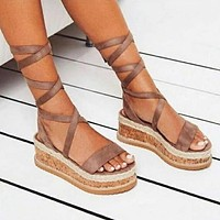 Fashionable sexy casual women's shoes fish-head platform sandals