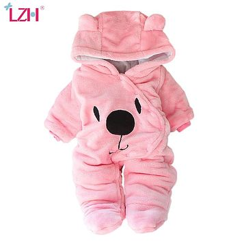 Baby Winter Clothes Newborn Baby Girls Overall 2021 Autumn Baby Romper For Baby Boys Jumpsuit Costume Infant Clothing Sets