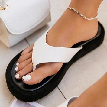 Flat sandals new large size women's slippers