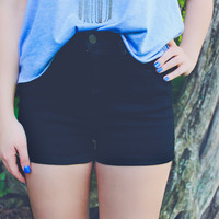 Night Hawk High Rise Shorts