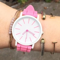 Pastel Pink Jelly Watch