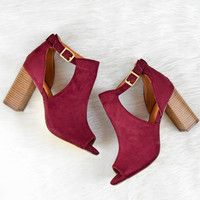 Side Cut Out Peep Toe Ankle Boots – Chica's Shoetique