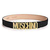 Moschino - Leather Logo Belt - Saks Fifth Avenue Mobile