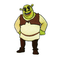 Shrek Embroidered Applique Iron on Patch