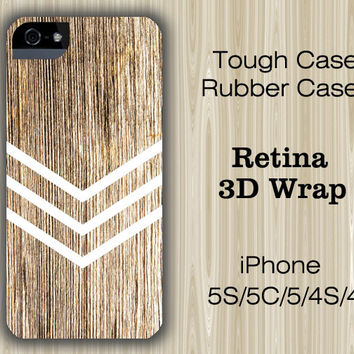 Geometric Wood Stripes iPhone 6/5S/5C/5/4S/4 Case