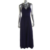 Aqua Womens Pleated Prom Formal Dress