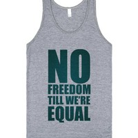 No Freedom Till We're Equal (tank)-Unisex Athletic Grey Tank