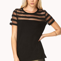 Chic Shadow-Striped Tee