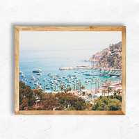 California Print Instant Digital Download Santa Catalina Island Beach Photography yacht luxury travel Avalon Wall Art DIY apartment bedroom