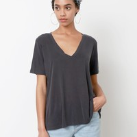 In Every Issue V-Neck Top - Black